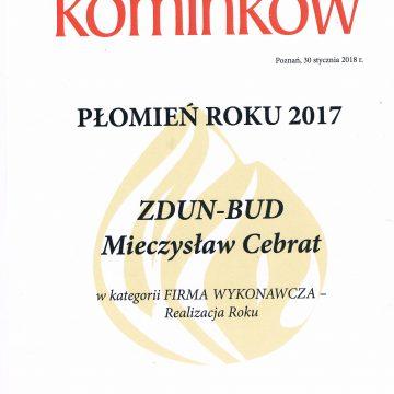 Płomień Roku 2017 – Laureaci, Świat Kominków